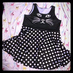Cat skater dress